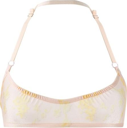 Charlotte Knowles Sheer floral bra