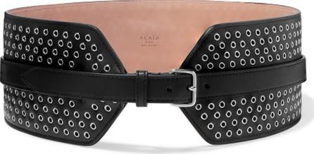 Alaïa Eyelet-embellished leather waist belt