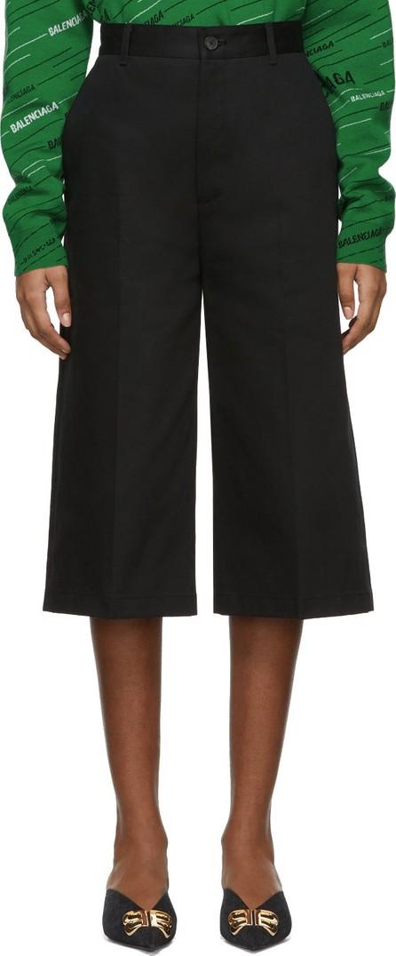 Balenciaga Black Capri Chino Trousers