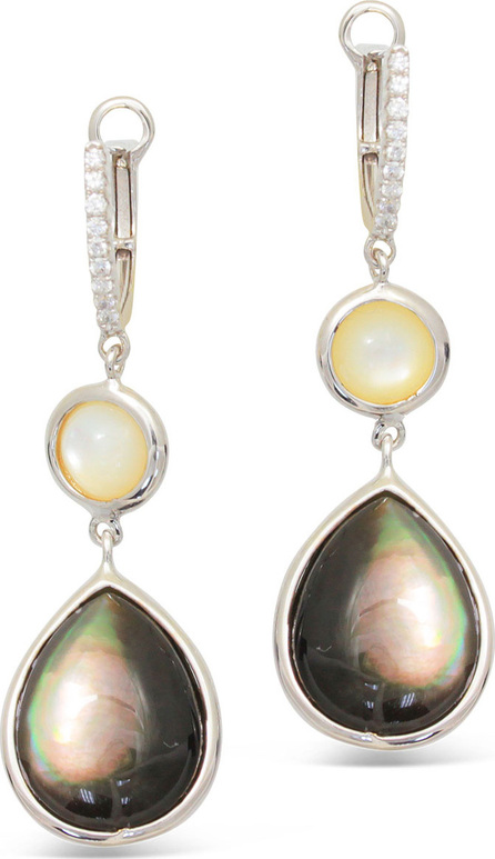 Frederic Sage Luna 18k White Gold White/Pink Mother-of-Pearl Earrings