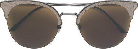 Bottega Veneta Intrecciato cat eye sunglasses