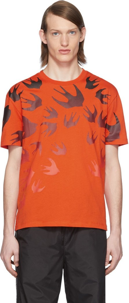 McQ - Alexander McQueen Orange Swallow T-Shirt