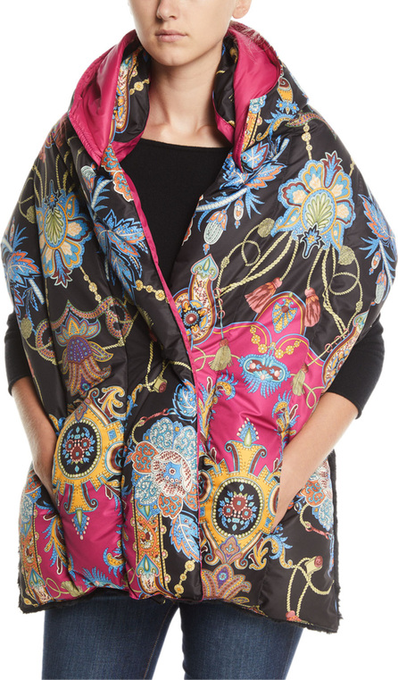 Etro Paisley Hooded Puffer Scarf