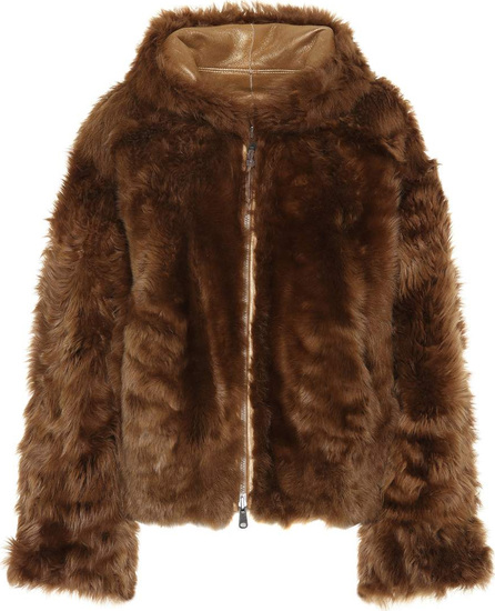 Brunello Cucinelli Reversible leather and lamb fur jacket