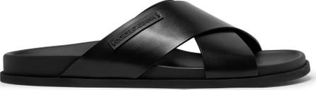 Dolce & Gabbana Logo-Appliquéd Leather Sandals