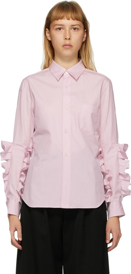 Comme Des Garçons Comme Des Garçons Pink Broad Double Ruffle Shirt