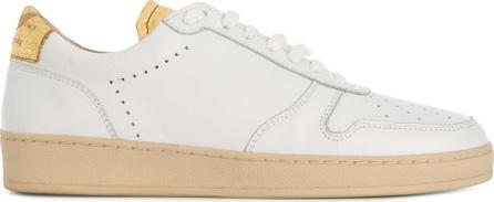 Zespa Metallic detail perforated sneakers