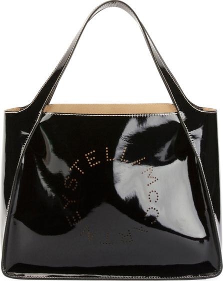Stella McCartney Patent Alter Nappa Logo Tote Bag