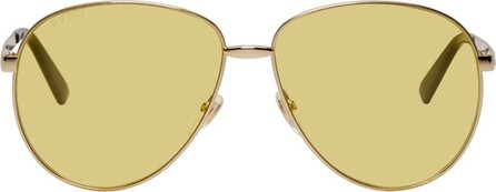 Gucci Gold Vintage Trendy Sunglasses