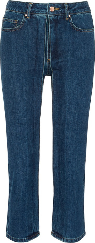 Aalto Fixed pleated cropped jeans