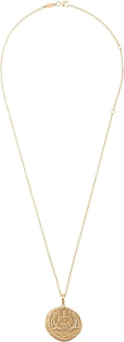 Azlee 14kt gold Sea coin necklace