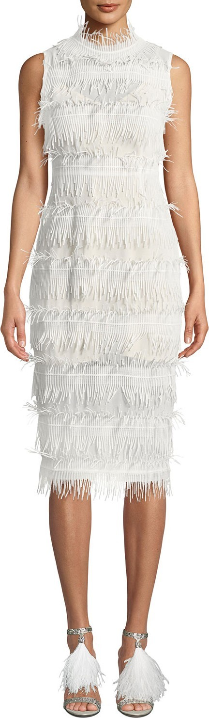Aijek Rain Lace Sleeveless Body-Con Dress