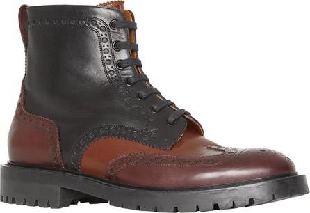 Burberry London England Men's Barkeston Brogue Leather Boots