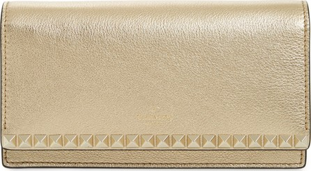 Valentino Rockstud No Limit Calfskin Leather Wallet on a Chain