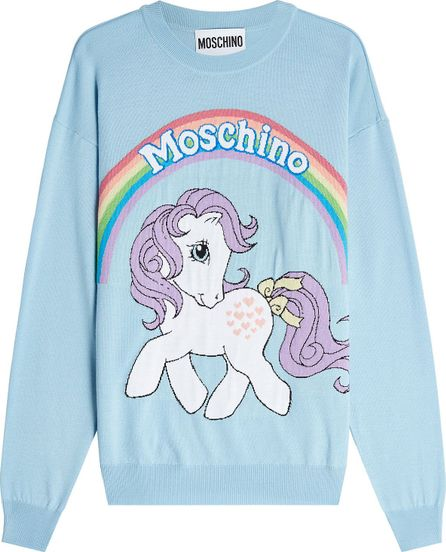 Moschino Little Pony Virgin Wool Pullover