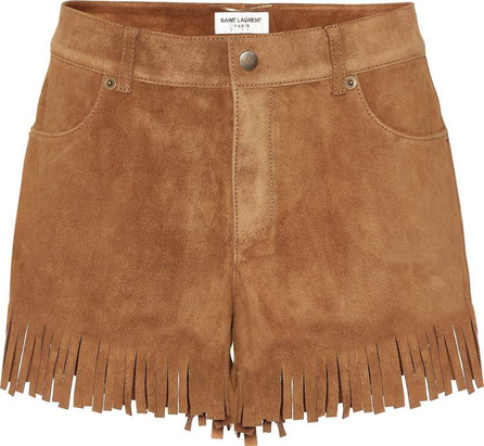 Saint Laurent Fringed suede shorts