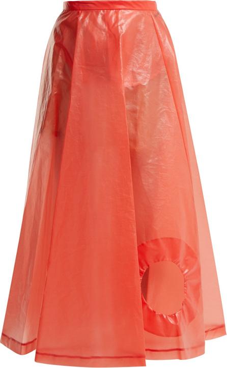 Toga Laminate cut-out skirt