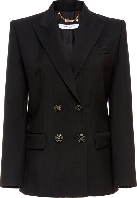Givenchy Wool Mohair Double Breasted Fitted Jacket