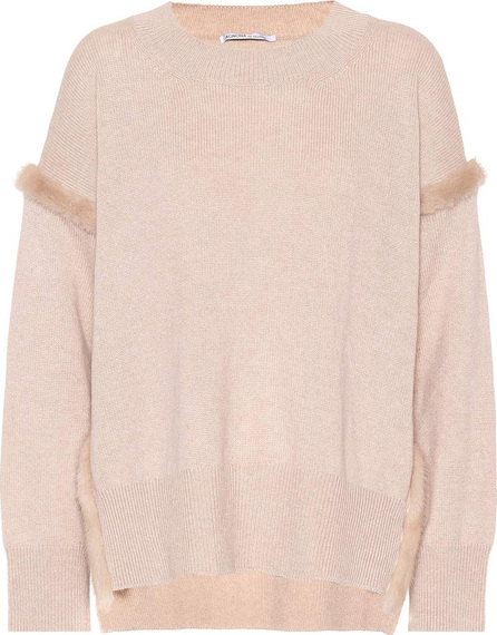Agnona Fur-trimmed cashmere sweater