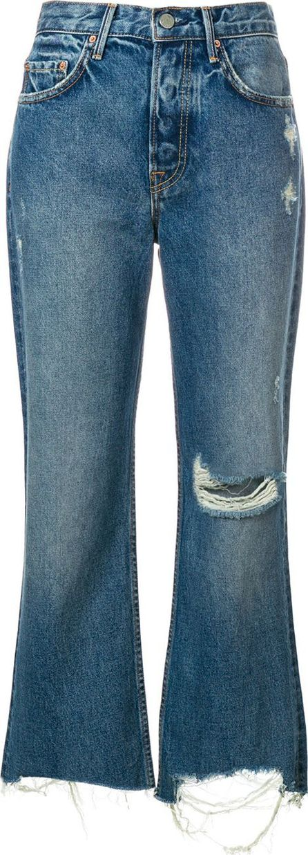 Grlfrnd Cropped high-rise jeans