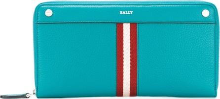 Bally vertical zip around wallet