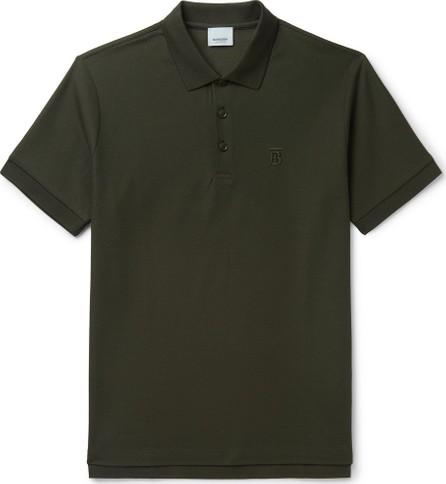 Burberry London England Slim-Fit Logo-Embroidered Cotton-Piqué Polo Shirt