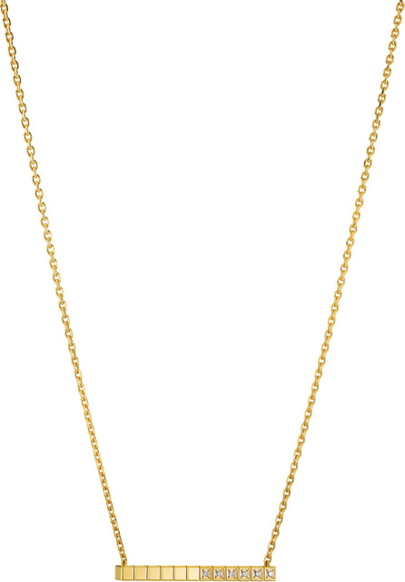Chopard Ice Cube Diamond Bar Necklace in 18K Gold