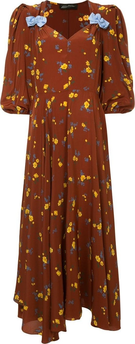 Anna October Long floral print dress