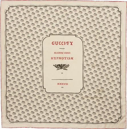 Gucci Ivory Logo Stamp Scarf