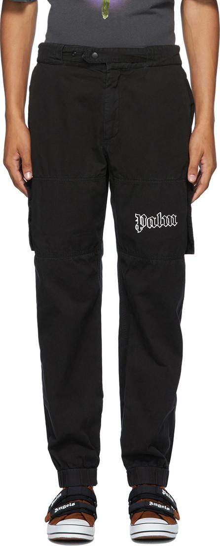 Palm Angels Black Logo Cargo Pants