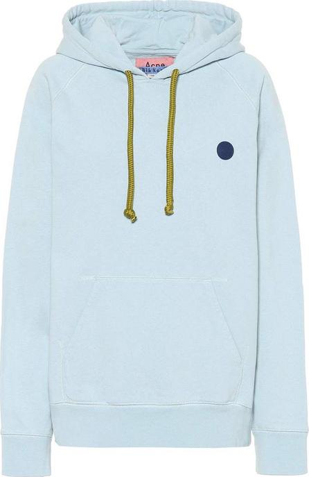 Acne Studios Blå Konst hooded cotton sweatshirt