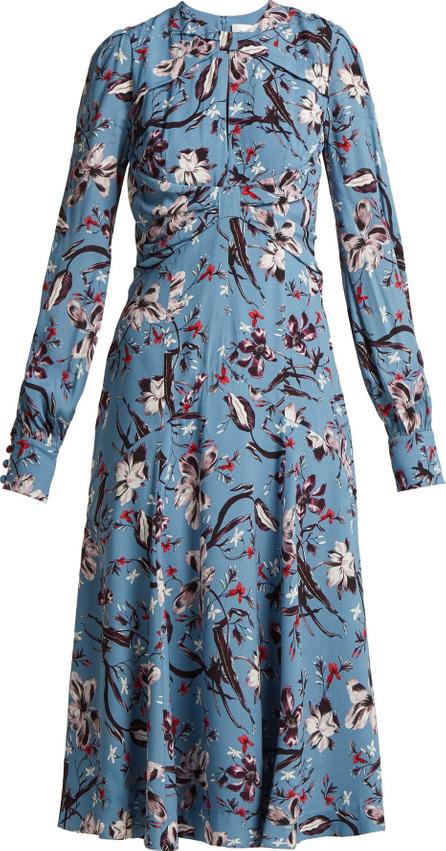 Erdem Carwen Tulip Dream printed crepe midi dress