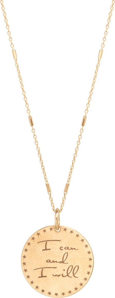 """Zoe Chicco 14k """"I Can and I Will"""" Pendant Necklace"""