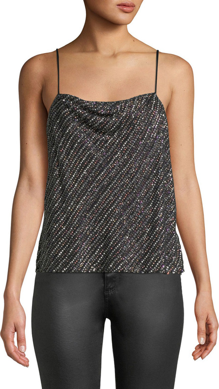 Parker Summer Sequined Cowl-Neck Tank