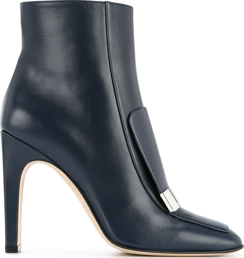 Sergio Rossi - Logo plaque ankle boots