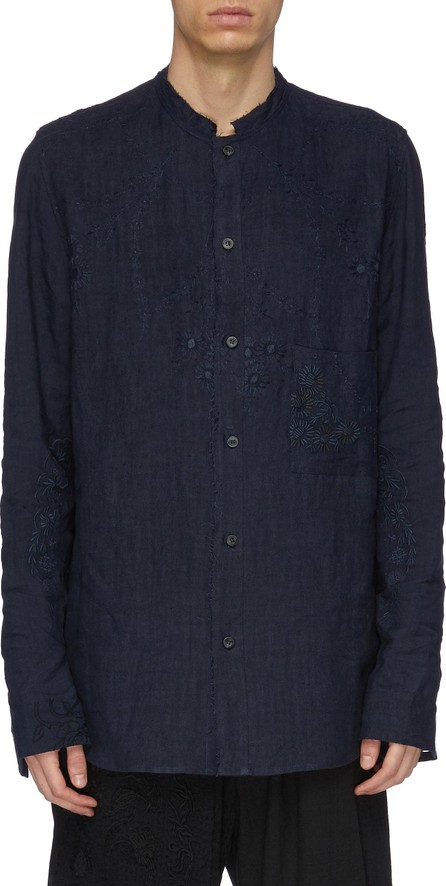 By Walid 'Tarek' floral embroidered linen shirt