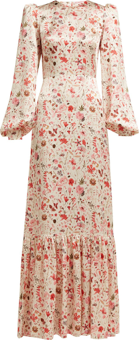 The Vampire's Wife Belle No.11 Botanical-print silk-satin dress