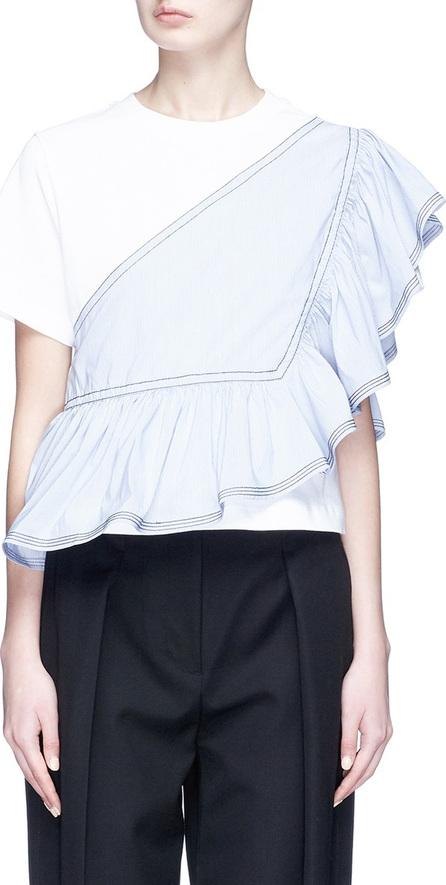 3.1 Phillip Lim Ruffle poplin panel T-shirt