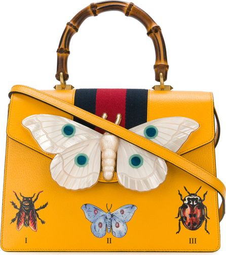 Gucci top handle tote bag with moth