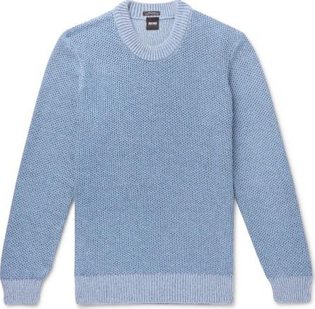 HUGO BOSS Waffle-Knit Cotton Sweater