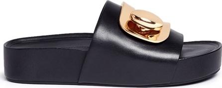 Stella Luna 'Stella' turnlock buckle leather platform slide sandals