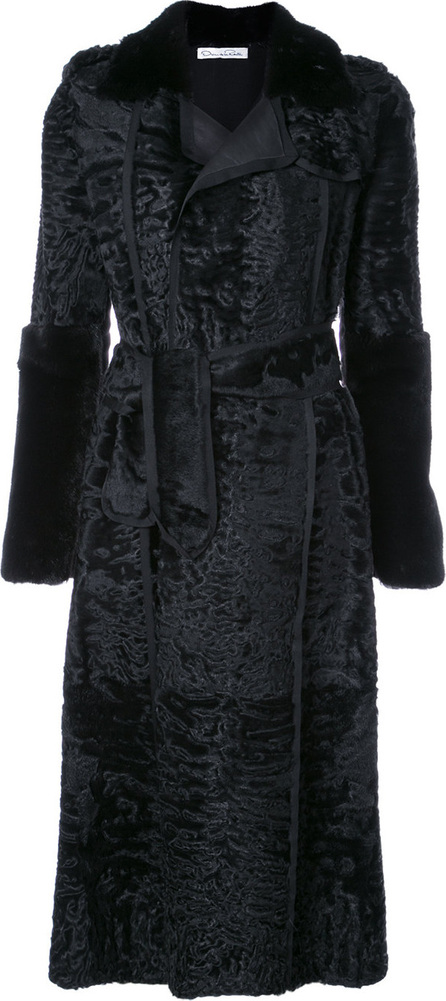Oscar De La Renta Tie-waist  trench coat