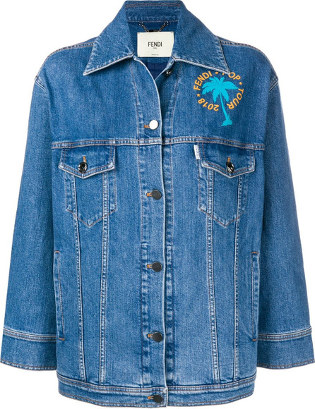 Fendi Embellished denim jacket