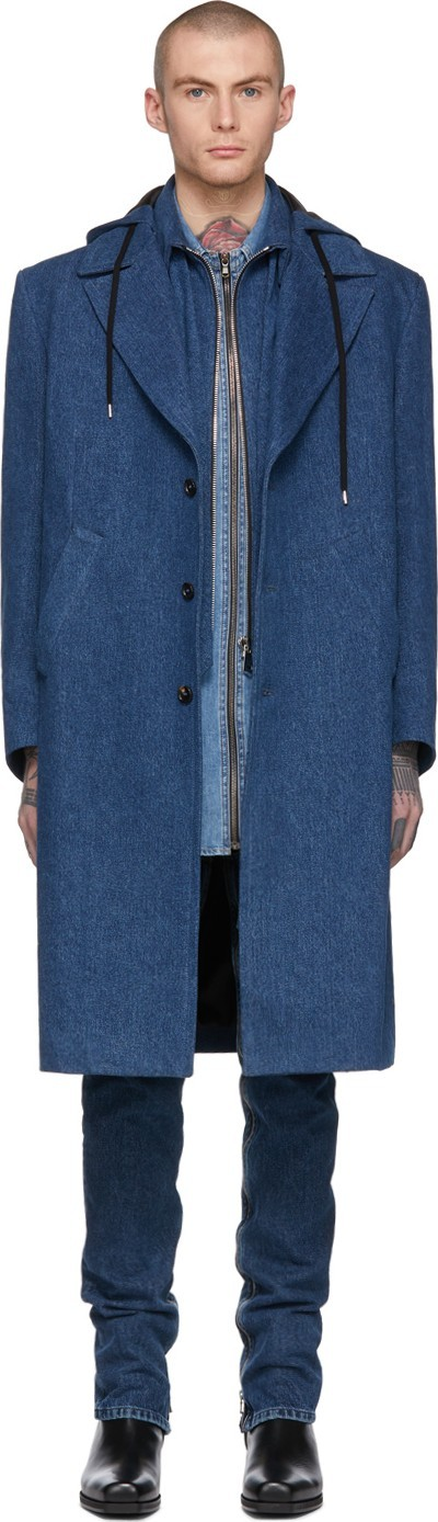 Diesel Red Tag Indigo Shayne Oliver Edition Denim Blazer Coat