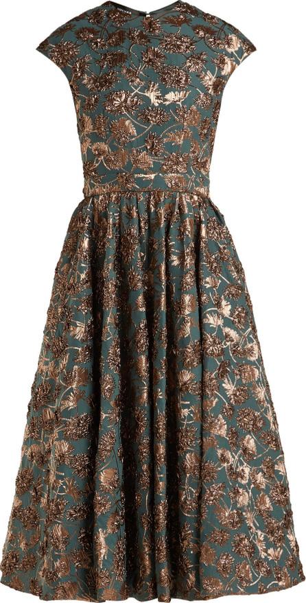 ROCHAS Metallic floral-brocade dress