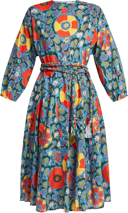 Rhode Resort Floral-print cotton midi dress