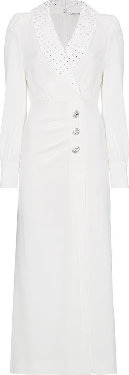 Alessandra Rich V-neck stud embellished maxi wrap dress
