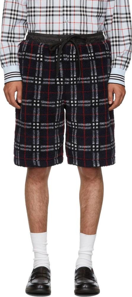 Burberry London England Navy Faux-Shearling Keaton Shorts