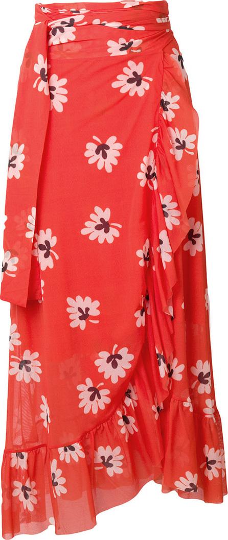Ganni Tilden mesh wrap skirt