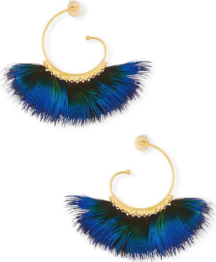 GAS Bijoux Buzios Feather Fan Hoop Earrings